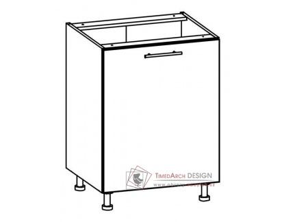 TIFFANY, dolní skříňka T19/D60, bílá / bílý lesk