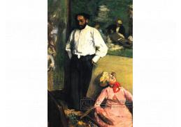 R6-105 Edgar Degas - Henri Michel-Levy v pracovně
