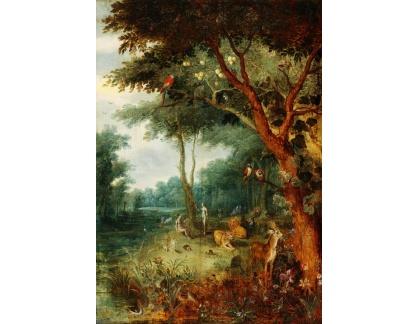 Slavné obrazy I-DDSO-203 Jan Brueghel - Adam a Eva v ráji