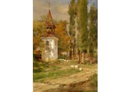 Slavné obrazy XVII-494 Hugo Darnaut - Z moravské vesnice