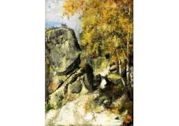 KO V-118 Paul Cézanne - Skály v lese ve Fontainebleau