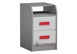 GYT 09, kontejner k pracovnímu stolu, antracit / bílá / červená