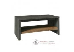 MONTANA, konferenční stolek ST, dub lefkas tmavý / smooth šedý