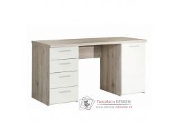VALERIA, počítačový stůl, dub pískový / bílá
