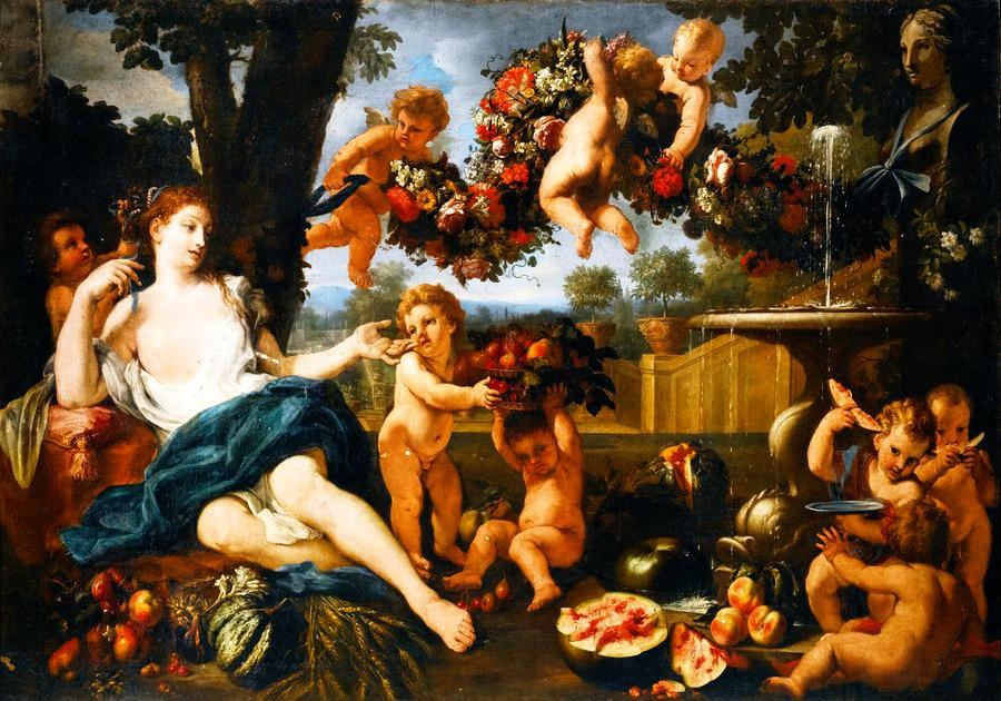BRG-03 Abraham Brueghel - Ceres a Amorové u kašny