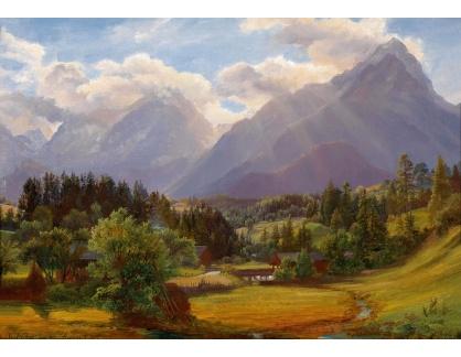 Slavné obrazy XVI-208 Anton Schiffer - Podhorská krajina