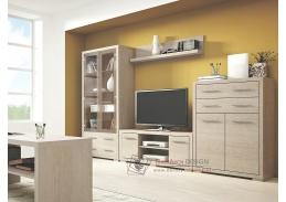 VEGAS SET 1, obývací sestava nábytku, dub santana