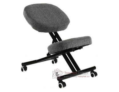 KILIAN, klekačka ergonomická, černá / látka šedo-hnědá taupe