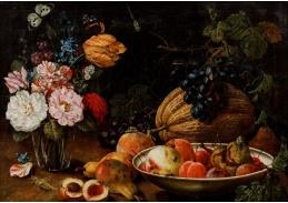 A-1350 Johann Amandus Winck - Ovocné zátiší s květinami a hmyzem