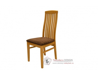 BE815 BUK3, jídelní židle, buk / látka tmavě hnědá