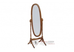 20124 WAL, zrcadlo sklopné, tmavě hnědá