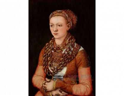 VlCR-207 Lucas Cranach - Portrér Anny Buchner