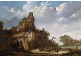 Slavné obrazy VIII-187 Roelof Janszoon de Vries - Cesta kolem mlýna