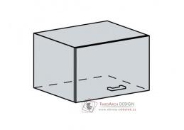 CHARLIZE, horní skříňka výklopná 60VP, bílá / bílé dřevo