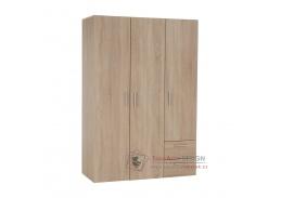 ADELI, šatní skříň 3-dveřová 120cm, dub sonoma