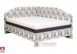 ANDREA, čalouněná postel rohová 120x200cm, výběr provedení