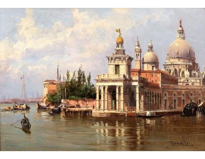 Slavné obrazy III-DDSO-468 Antonietta Brandeis - Punta della Dogana v Benátkách