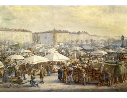 Slavné obrazy XIII-109 Carl Massmann - Vídeňská tržnice