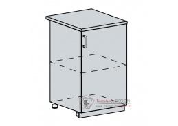 VALERIA, dolní skříňka 1-dveřová 50D, bílá / black stripe