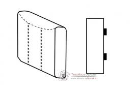 SELECT, segment bok D - levý, látky A1