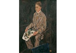 D-7810 Egon Schiele - Portrét Franze Martina Haberditzla