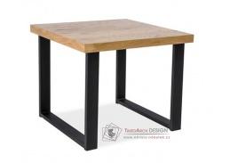 UMBERTO C, konferenční stolek, černá / MDF dub
