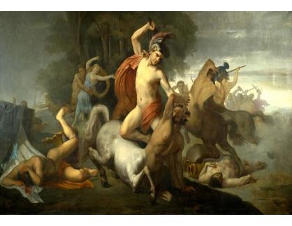 Slavné obrazy XVI-482 Domenico Tojetti - Bitva s kentaury