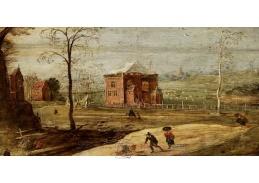 A-1240 Jan Brueghel a Joos de Momper - Zimní krajina na venkově