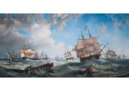 D-6430 John Wilson Carmichael - Lodě ve vysokých vlnách
