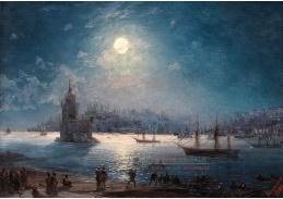 D-9462 Ivan Konstantinovič Aivazovskij - Pohled na Bospor s Hagií Sofií a Dívčí věží v měsíčním světle