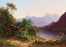 D-9521 Josef Schwemminger - Pohled přes Zellské jezero