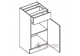 Dolní skříňka se zásuvkou D40/S1 MORENO picard