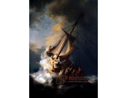 R4-1 Rembrandt - Kristus v bouři na Galilejském moři