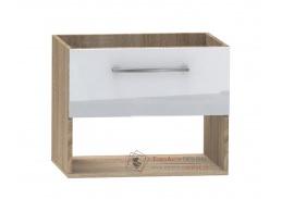 CAMPO, dolní koupelnivá skříňka pod umyvadlo DUM LILO 60S/1, dub sonoma / bílý lesk