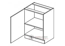 PAULA, D60 dolní skříňka - levá,  šedá / mocca