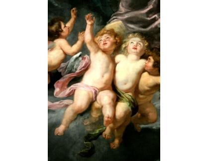 VRU109 Peter Paul Rubens - Korunování Panny Marie, detail