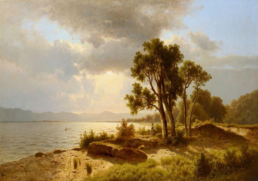 Obraz VCM 623 Adolf Chwala - Krajina s jezerem