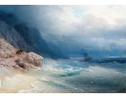 VL331 Ivan Konstantinovič Aivazovskij - Bouře na jezeře