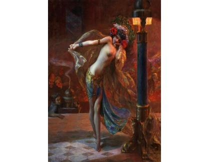 Slavné obrazy XVII-216 Gaston Bussiere - Tanečnice