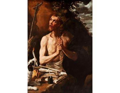 Krásné obrazy II-369 Luis Tristán - Kajícnost svatého Dominika