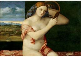 Slavné obrazy X-481 Giovanni Bellini - Toaleta mladé ženy