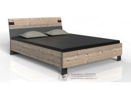LOMAZA 291, postel 140x200cm, stříbrná jedle / šedá grafit