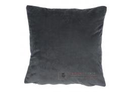 ALITA 8, polštář 45x45cm, sametová látka - tmavě šedá