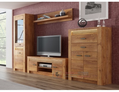 INDIANAPOLIS, obývací sestava nábytku (4+6+9+11), jasan světlý