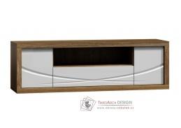 PARIS P05, televizní stolek, dub stirling / bílý lesk