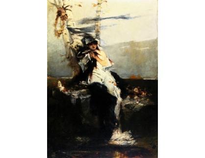 Slavné obrazy I-DDSO-345 Raphael von Ambros - Očekávání