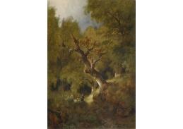 Slavné obrazy X 171 Remigius Adrianus van Haanen - Lesní krajina s lovcem