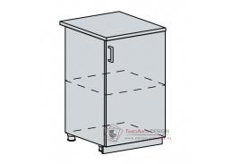 VICTORIE, dolní skříňka 1-dveřová 50D, bílá / bílý santal