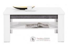 BRANDO B09, konferenční stolek 102x67cm, bílá / beton