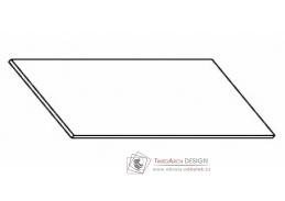 Kuchyňská pracovní deska 180 cm šedý asfalt